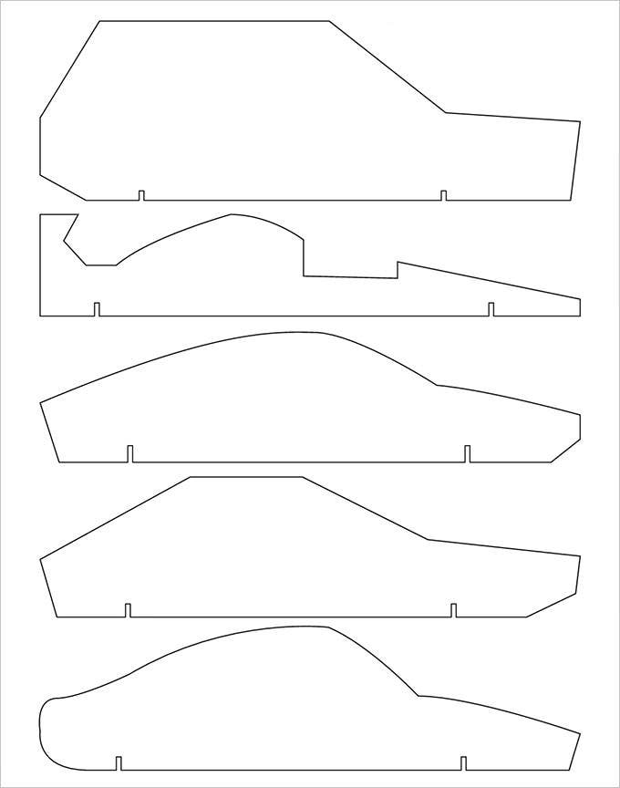 pinewood derby car design templates