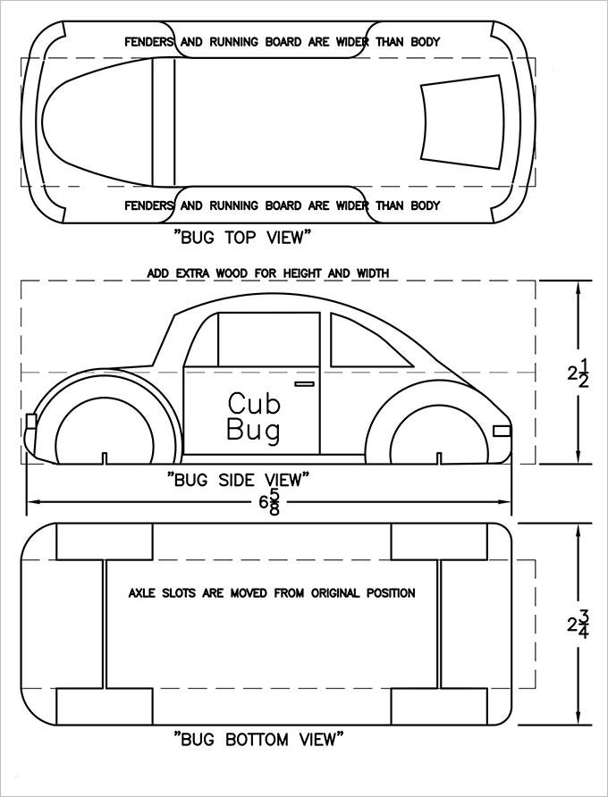27 Awesome Pinewood Derby Templates Free Sample Example Format – Pinewood Derby Template
