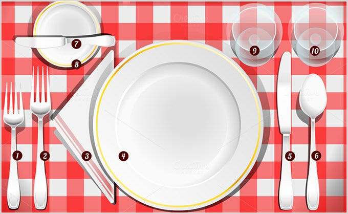Place Setting Templates  Free Sample Example Format  Free