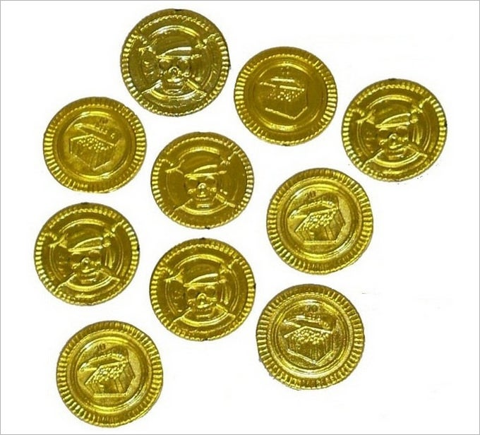 This is a picture of Punchy Printable Gold Coins