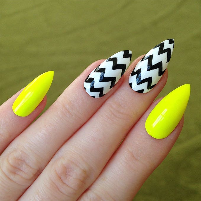 pointy nail design idea