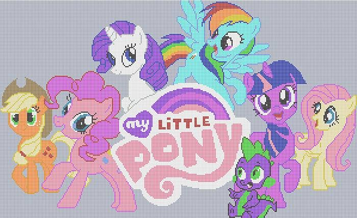 poney-minecraft-pixel-art-template