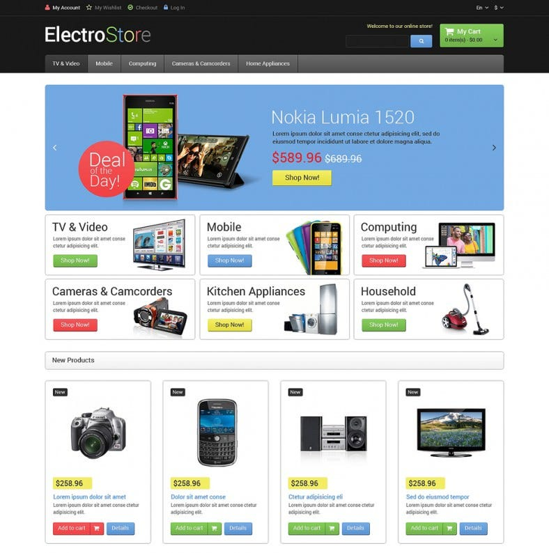 Premium Electro Goods Magento Theme