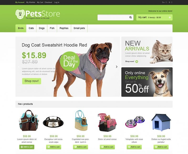Premium Magento Theme for Pets Store