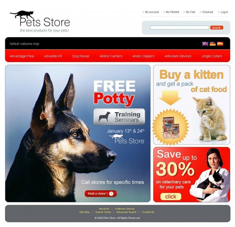 Premium Pet Shop Magento Theme