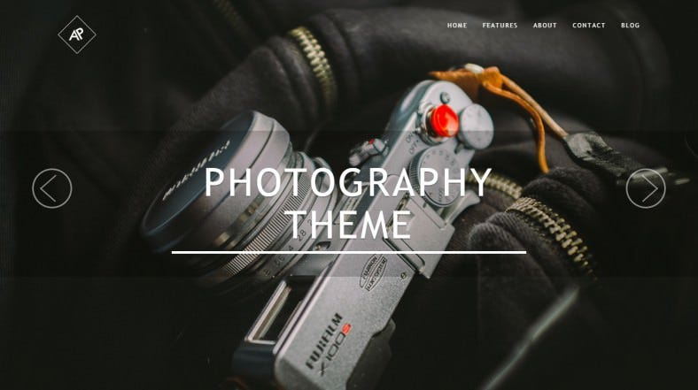 Premium Photography Parallax WordPress Theme