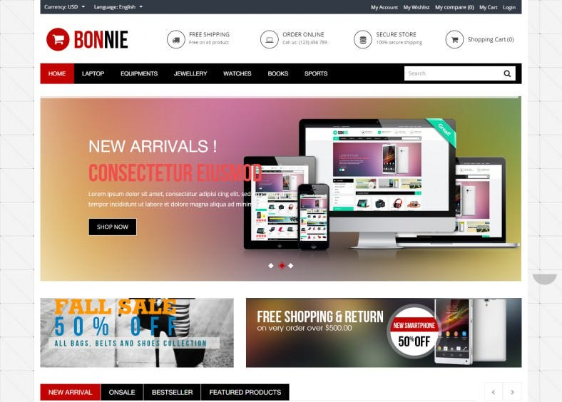 Premium Responsive Technology Prestashop Theme