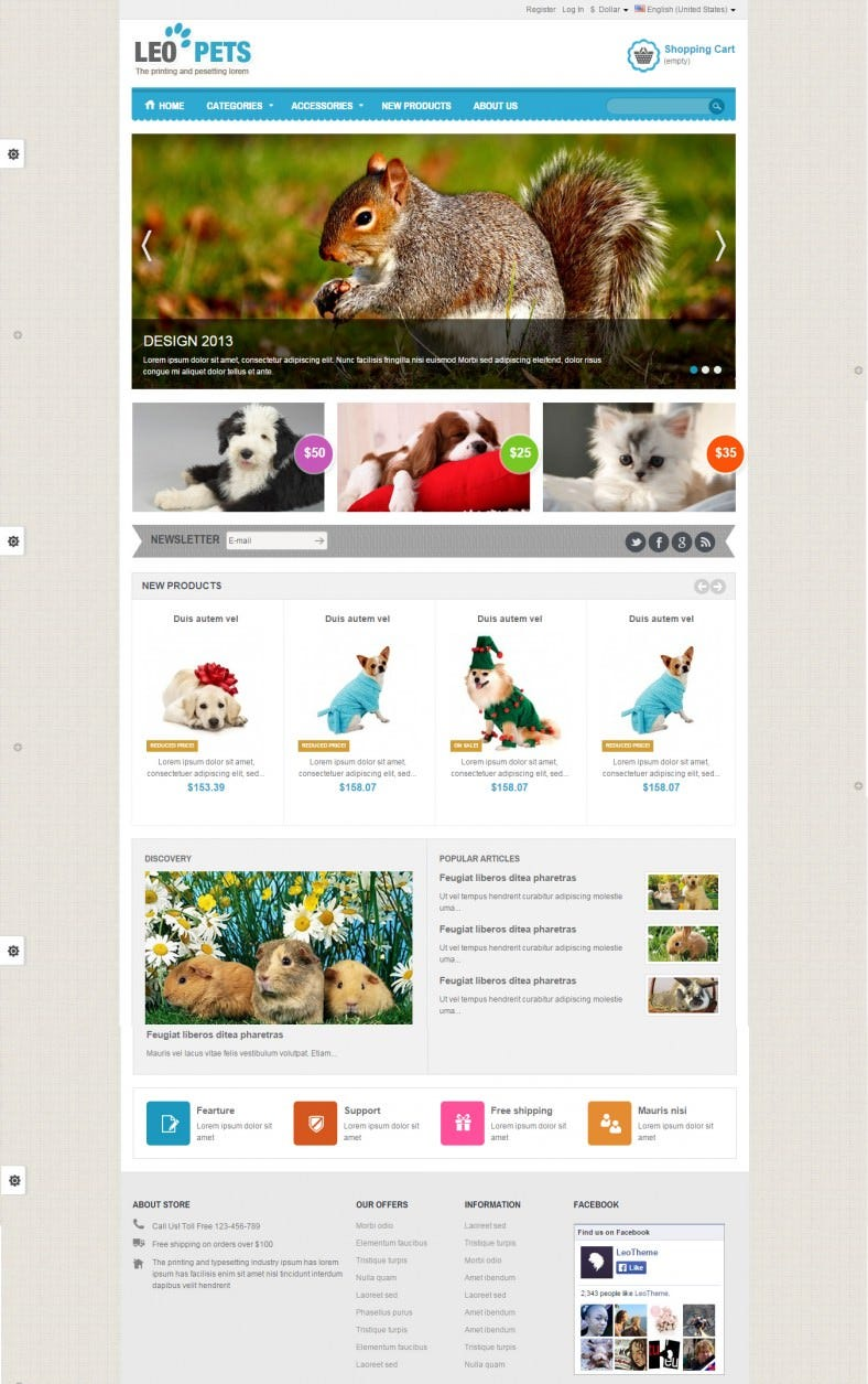 Prestashop Mobile Theme For Pets Shop