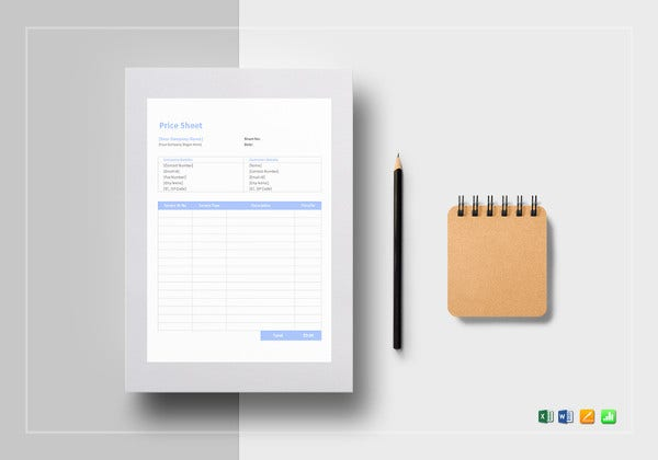 price-sheet-excel-template