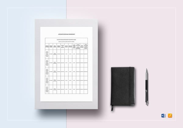 printable accounts receivable spreadsheet template