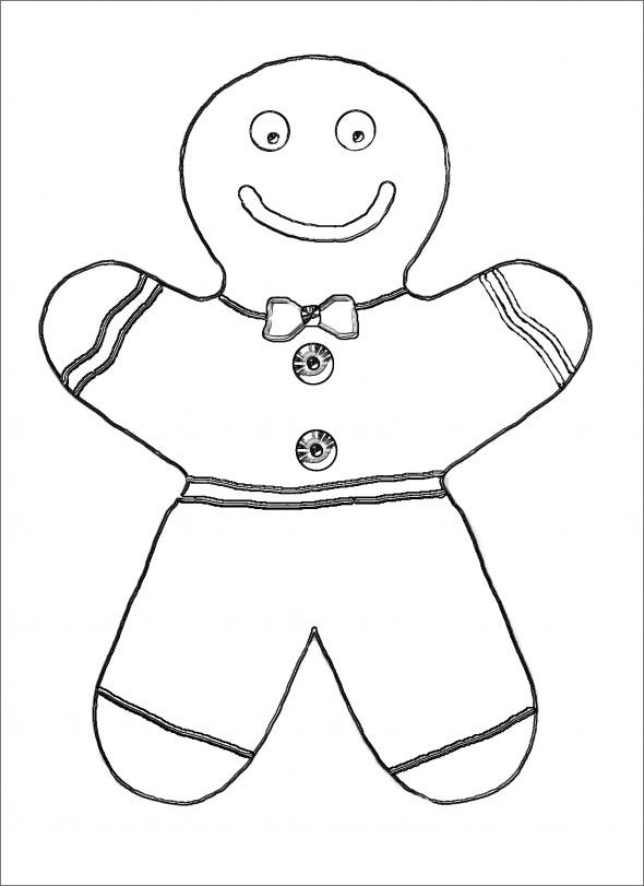 Printable Gingerbread Man Template