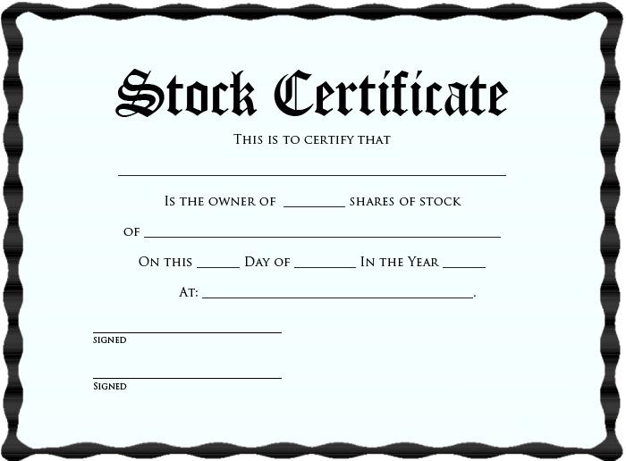 Printable Stock Certificate Template kKrlKF5i