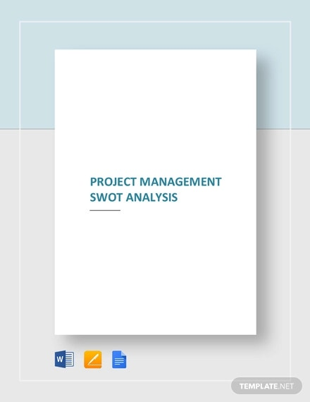 project management swot analysis template