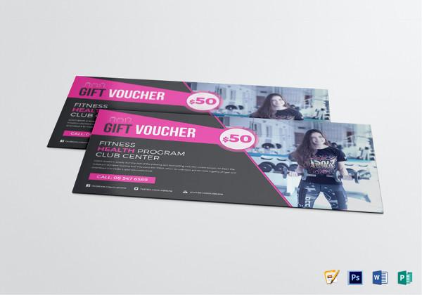 promotional fitness voucher design template