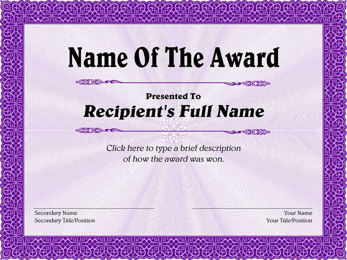 Purple-Decorative-Award-Certificate
