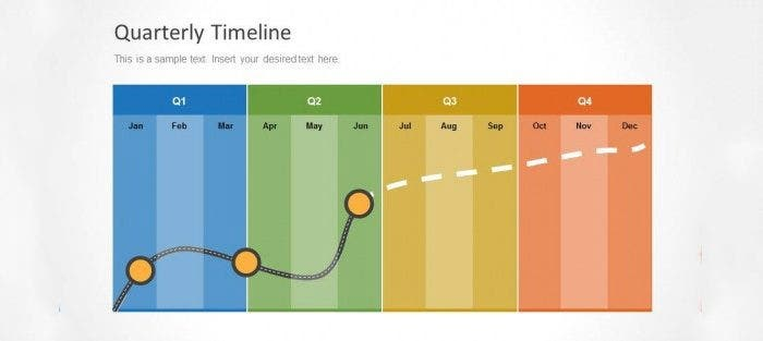 Quarterly Timeline Template For PowerPoint