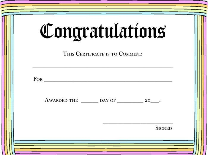 template for award certificate