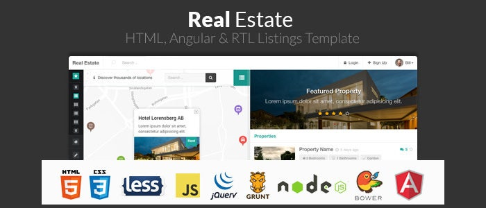 real estate angular listing template