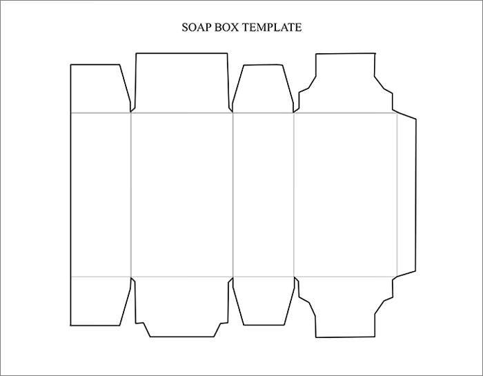 rectangle cake box template