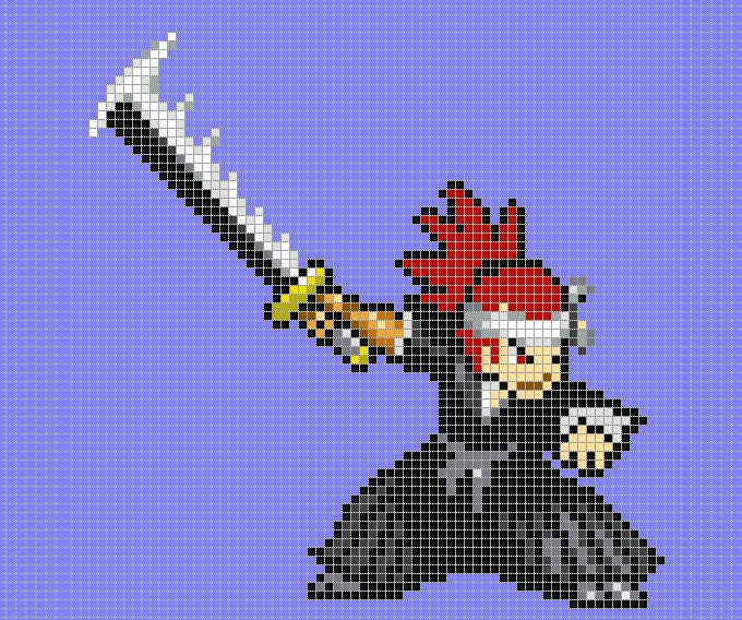 renji pixel art template