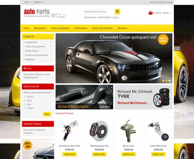 Auto parts Magento Website Templates   Themes Free   Premium vIWKtAFc