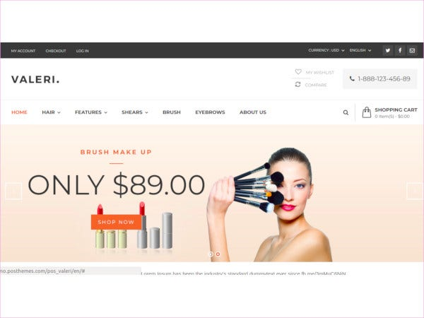 responsive beauty prestashop theme