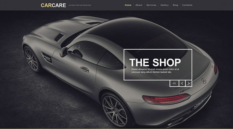 Responsive Car Repair Parallax WordPress Theme