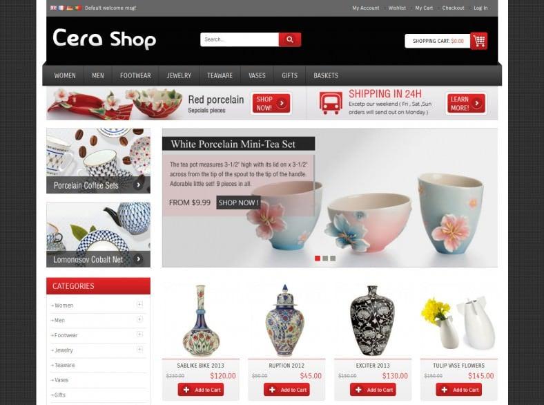 Responsive Ceramic Design Magento Template