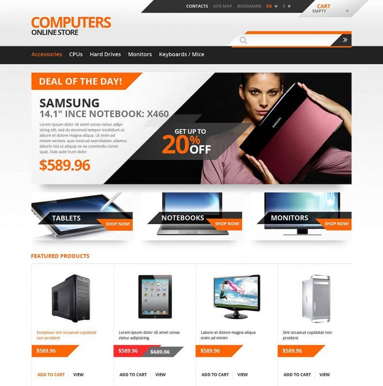 responsive computers store prestashop template 788x796