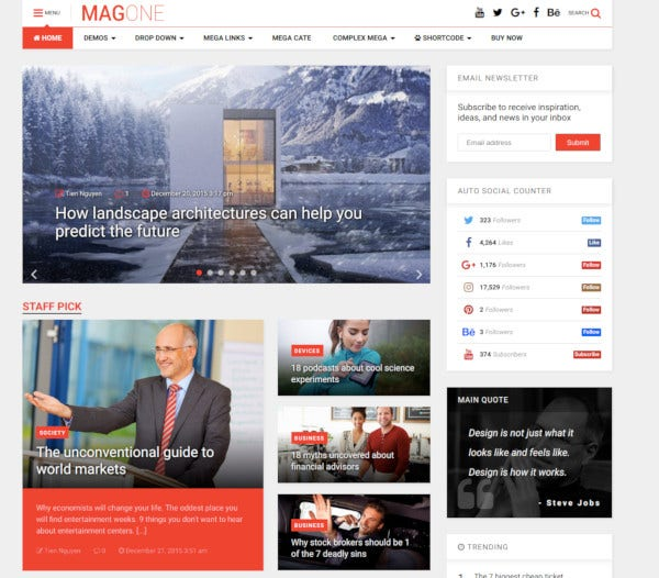 responsive magazine news wordpress theme