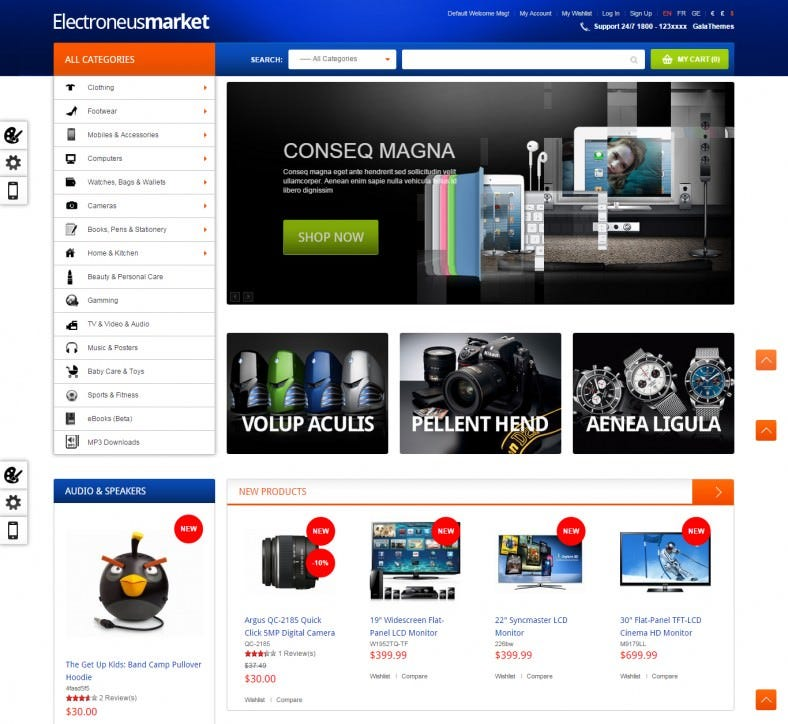 Responsive Magento Theme for Electronics