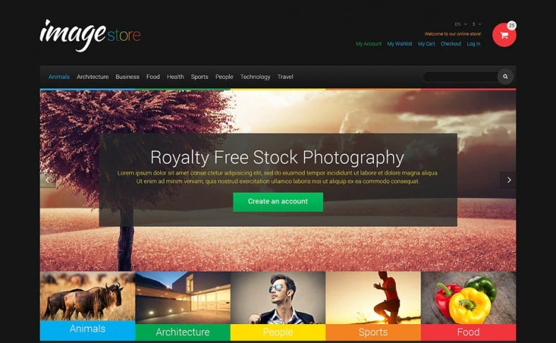 responsive magento theme for stock photo designs 788x487