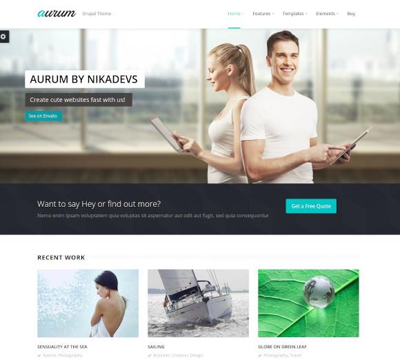 responsive multipurpose drag and drop drupal theme