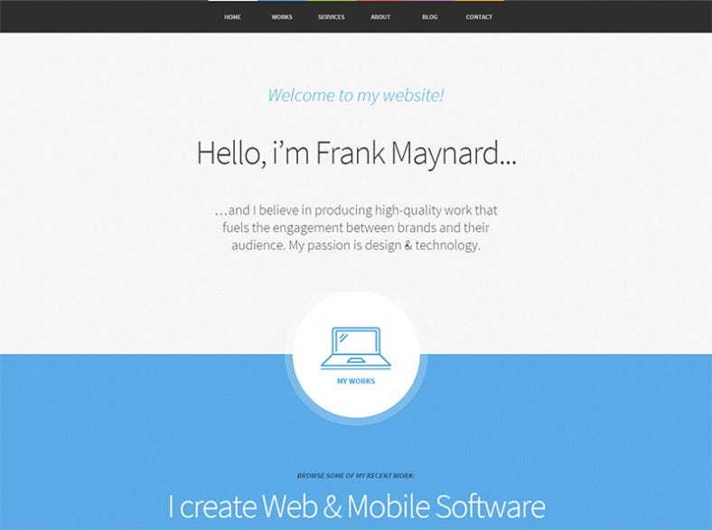 responsive one page wordpress theme 788x587