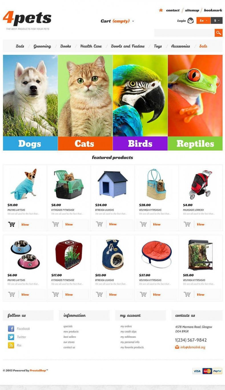 Responsive Pet Store PrestaShop Theme