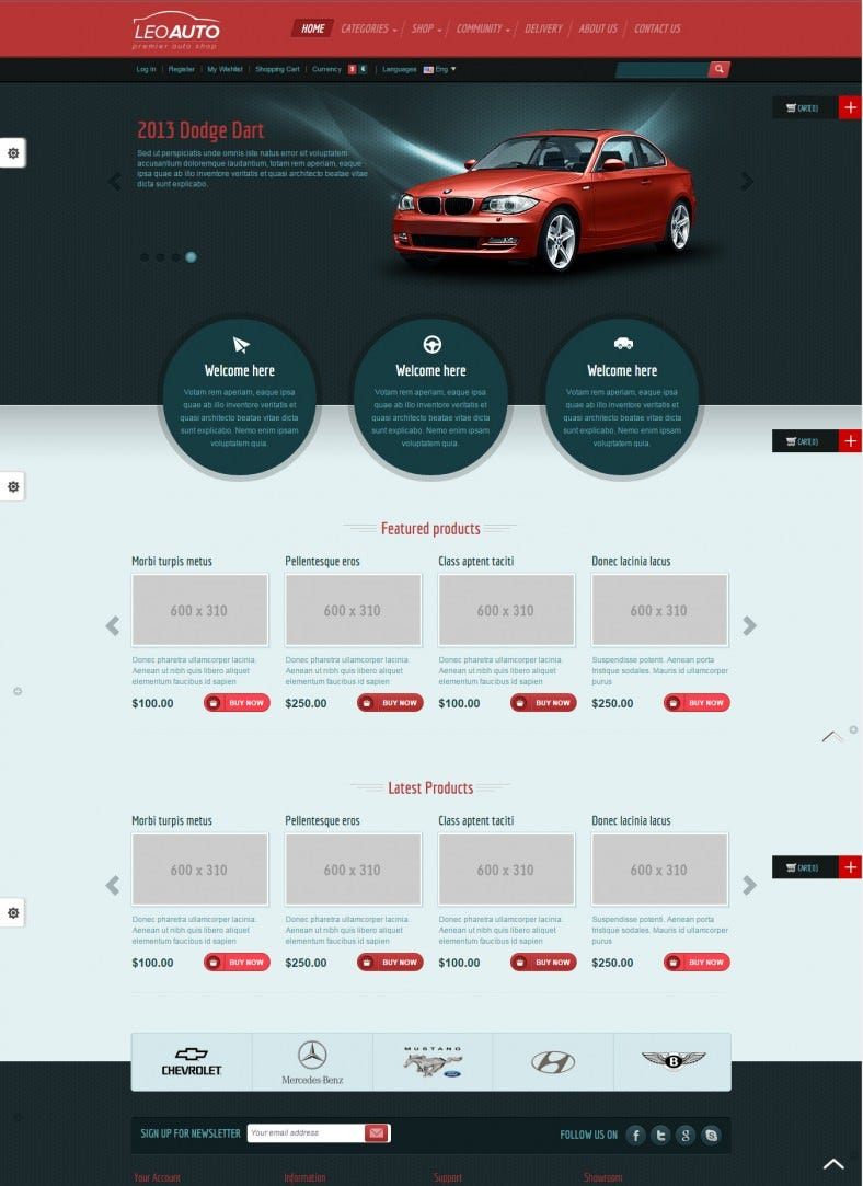 responsive prestashop template for auto store 788x1083