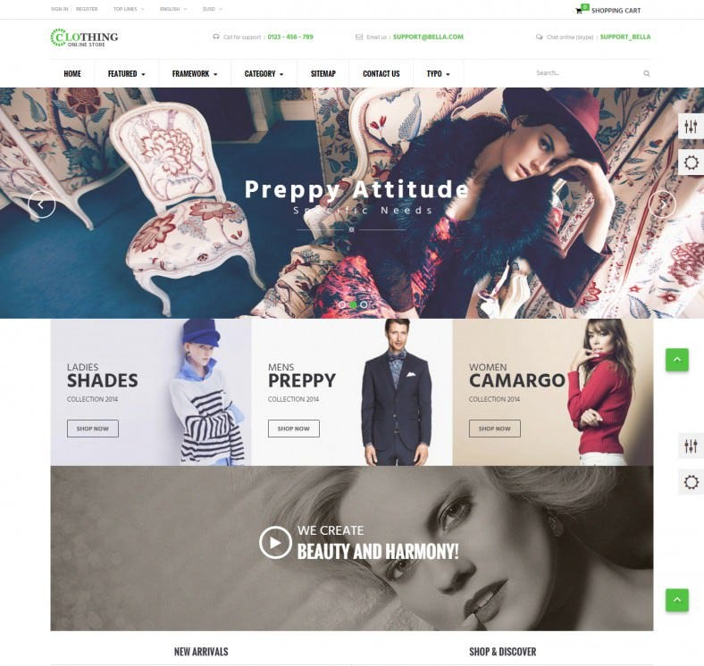 Responsive Prestashop Template for Boutique Store