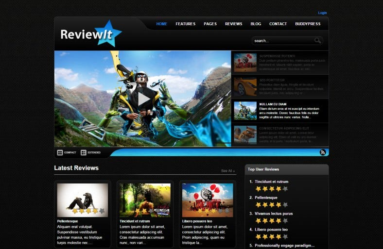 Review WordPress & BuddyPress Theme