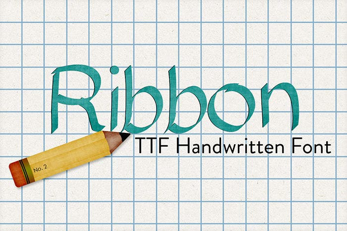 Ribbon-Hand-Drawn-Font