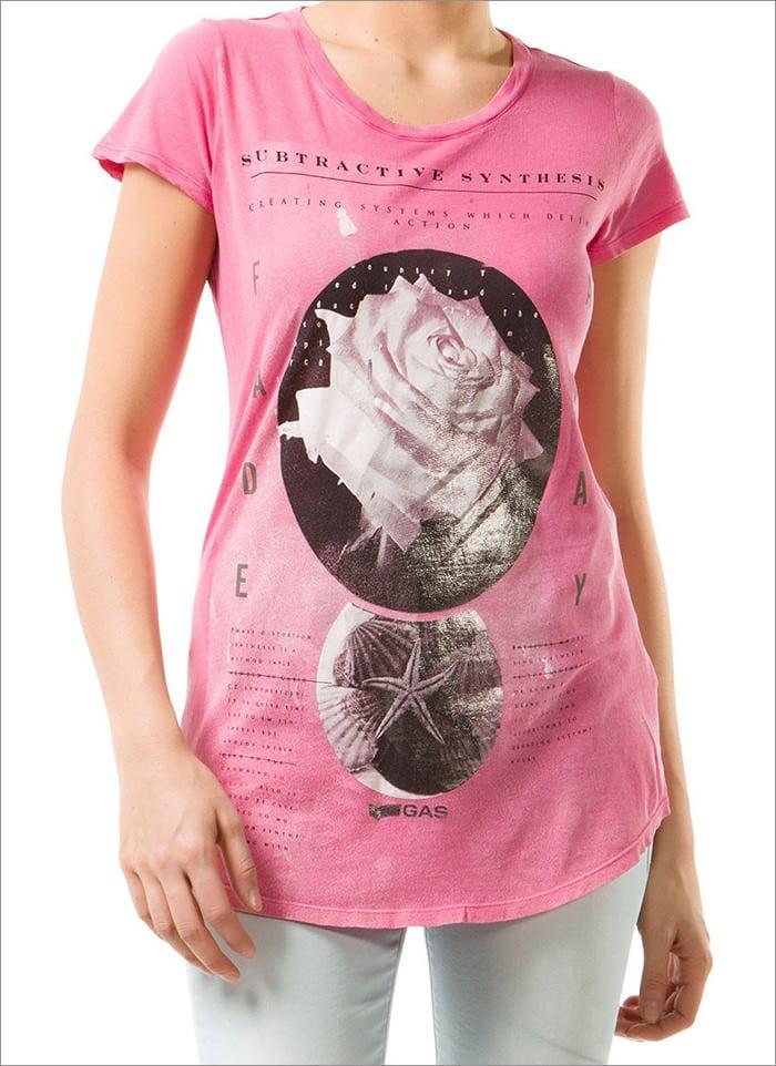 rose printed t shirt