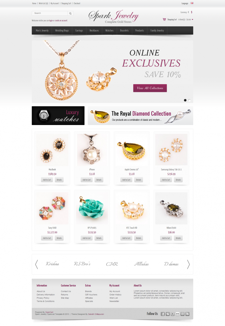 spark jewelry white opencart template 788x1142
