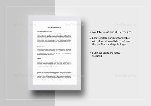 sample-professional-memo-template