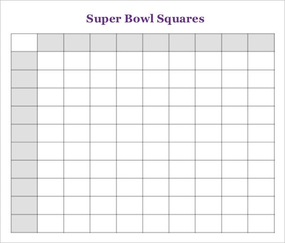 super bowl squares template free premium templates