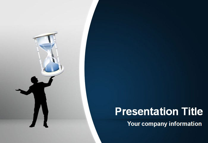 sand clock powerpoint template