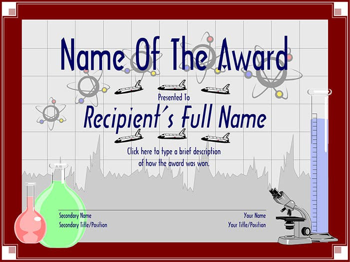 Science-Just-For-Elementary-School-Award-Certificate