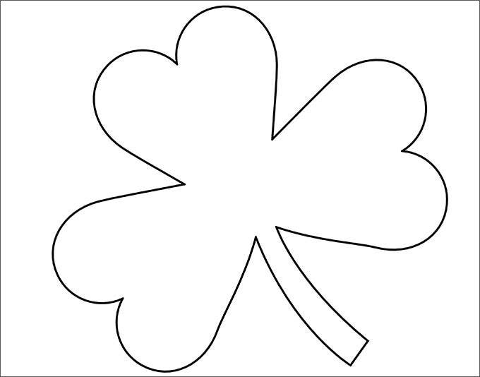 Candid image in shamrock template free printable