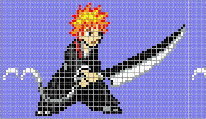 shikai pixel art template
