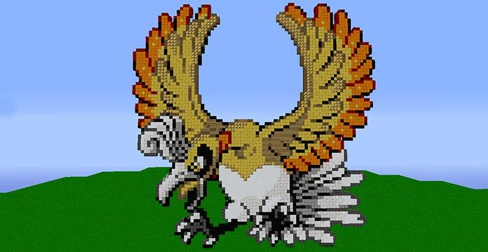 shiny flying minecraft pixel art template1