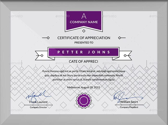 Simple Certificates Template PSD  Free College Diploma Template