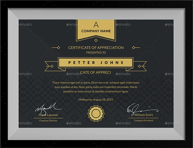 simple certificates template1